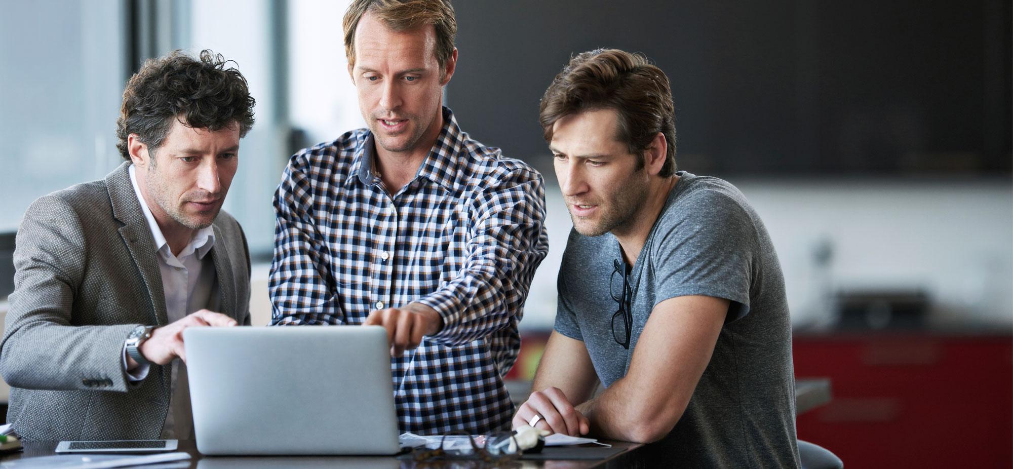 Men Using Laptop